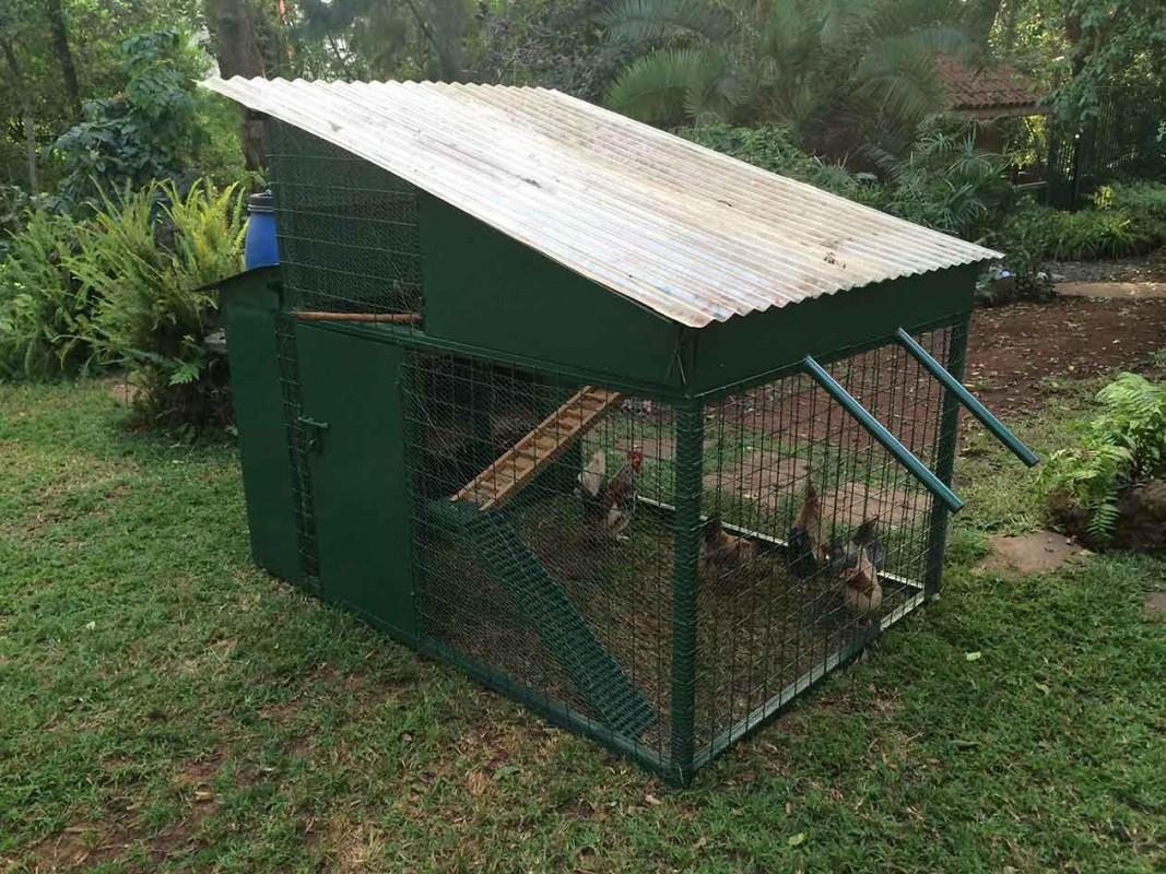 Ironmongery diani flowers and landscaping lmited for Portable chicken coop on wheels